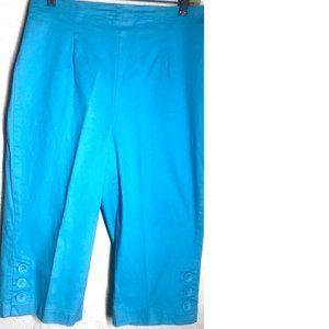 d & co denim & co. New Turquoise Crop Pants